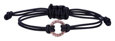 Harley-Davidson Women's Rose Gold Open Circle Adjustable Cord Bracelet HDB0405 - Wisconsin Harley-Davidson