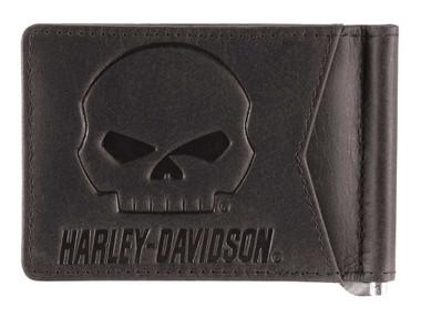 Harley-Davidson Men's Outsider Money Clip Leather Wallet w/ RFID HDMWA11646 - Wisconsin Harley-Davidson