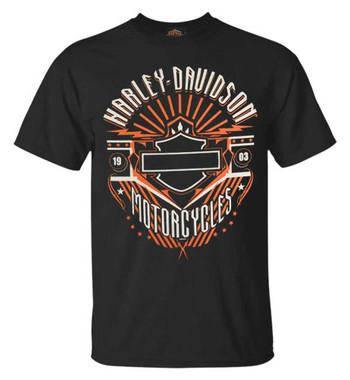 Harley-Davidson Men's Beast Bar & Shield Short Sleeve Crew Neck T-Shirt - Black - Wisconsin Harley-Davidson