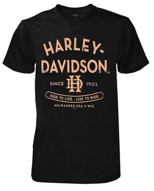 Harley-Davidson Men's Danger H-D Chest Pocket Short Sleeve T-Shirt - Black - Wisconsin Harley-Davidson