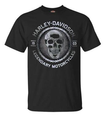 Harley-Davidson Men's Metal Head Short Sleeve Crew Neck T-Shirt, Black - Wisconsin Harley-Davidson