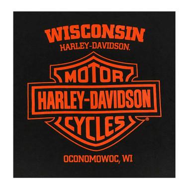 Ivory Harley-Davidson Mens Medals Premium Short Sleeve Raglan Pocket Tee