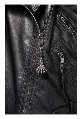 Unisex 3D Skeletal Hand Lobster Claw Clasp Zipper Pull, Pewter Color 61024 - Wisconsin Harley-Davidson