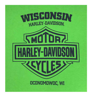 Harley-Davidson Men's Legitimacy Crew Neck Short Sleeve Tee - Electric Green - Wisconsin Harley-Davidson