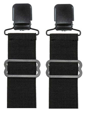 Unisex Adjustable Elastic Boot Stirrups With Black Metal Clip, Set Of Two 08905 - Wisconsin Harley-Davidson