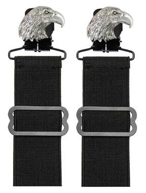 Unisex Adjustable Elastic Boot Stirrups With Metal Eagle Clip, Set Of Two 08902 - Wisconsin Harley-Davidson
