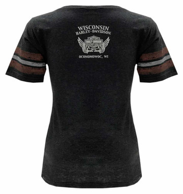 Harley-Davidson Women/'s Moxie /'Live To Ride/' Short Sleeve Scoop Neck Tee Red