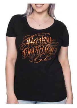 Harley-Davidson Women's Ready Or Not Foiled Short Sleeve Cotton Tee - Black - Wisconsin Harley-Davidson