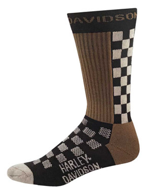 Harley-Davidson Men's Checkered Vented Performance Riding Socks D99233470-001 - Wisconsin Harley-Davidson