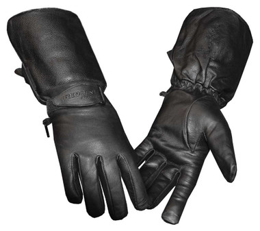 Redline Women's Full-Finger Gauntlet Leather Motorcycle Gloves, Black GL-53 - Wisconsin Harley-Davidson
