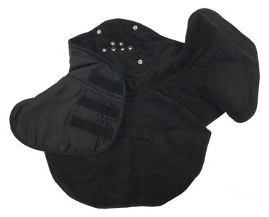 Redline Leather Unisex Face & Chest Winter Warmer, Black Fleece & Nylon 7052 - Wisconsin Harley-Davidson