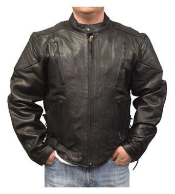 Redline Men's Touring Leather Motorcycle Jacket w/ Gator Lining M-400GS - Wisconsin Harley-Davidson