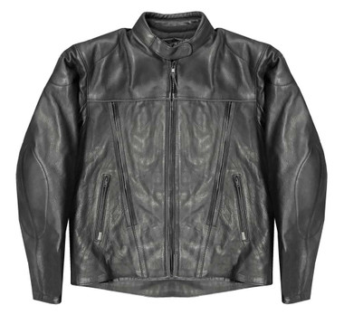 Redline Women's Black Piping Cowhide Leather Motorcycle Jacket, Black L-35VBR - Wisconsin Harley-Davidson