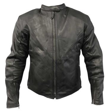 Redline Men's Classic Armor Cowhide Leather Motorcycle Jacket - Black M-4515 - Wisconsin Harley-Davidson