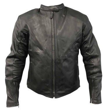 Redline Men's Classic Armor Cowhide Leather Motorcycle Jacket - Black M-4515 - Wisconsin Harley-Davidson