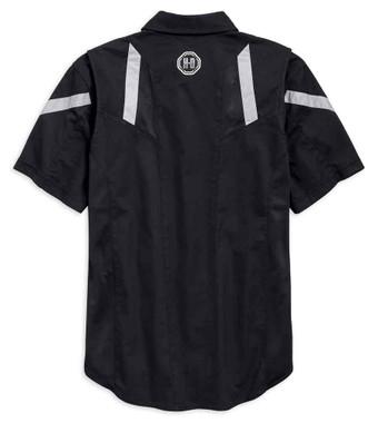 Harley-Davidson Men's Performance Vented Action Back Shirt - Black 96761-19VM - Wisconsin Harley-Davidson
