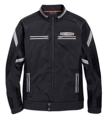 Harley-Davidson Men's Performance Soft Shell & Mesh Jacket - Black 97518-19VM - Wisconsin Harley-Davidson