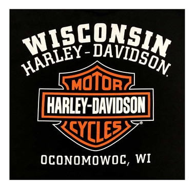 Harley-Davidson Men's Custom Freedom Sleeveless Crew Neck Muscle Shirt - Black - Wisconsin Harley-Davidson