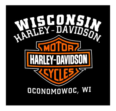 Harley-Davidson Men's Custom Iconic Sleeveless Crew Neck Muscle Shirt - Black - Wisconsin Harley-Davidson