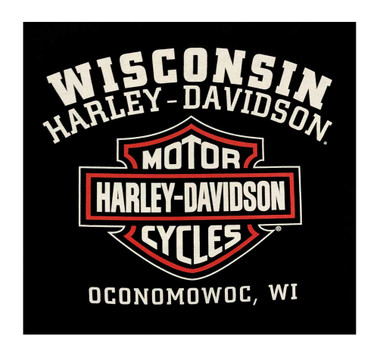 Harley-Davidson Men's Custom Skull & Stars Sleeveless Crew Muscle Tee - Black - Wisconsin Harley-Davidson