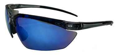 Redline Motorcycle Unisex Riding Sunglasses, Black Frame & Blue Lenses - Wisconsin Harley-Davidson