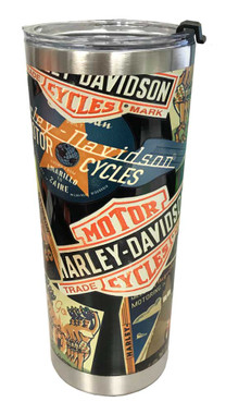 Harley-Davidson Destinations Textured Stainless Steel Travel Mug, 24oz HDX-98622 - Wisconsin Harley-Davidson