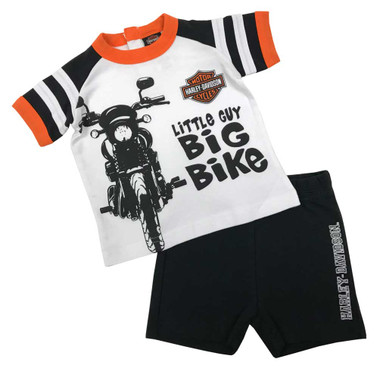 Harley-Davidson Baby Boys' 2-Piece Biker Short Sleeve Tee & Shorts Set 2062909 - Wisconsin Harley-Davidson