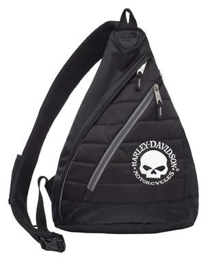 Harley-Davidson Willie G Skull Quilted Travel Large Sling Backpack 90820-WILLIEG - Wisconsin Harley-Davidson