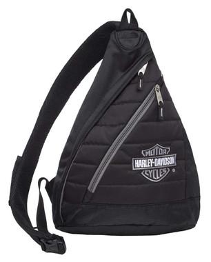 Harley-Davidson Bar & Shield Quilted Travel Large Sling Backpack 90820-SILVER - Wisconsin Harley-Davidson