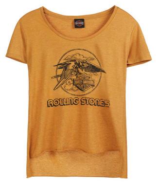 Harley-Davidson Women's Rolling Stones Jet Eagle Short Sleeve High-Low Hem Tee - Wisconsin Harley-Davidson
