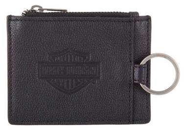 Harley-Davidson Men's Bar & Shield Enzo Slim Wallet w/ RFID - Black HDMWA11524 - Wisconsin Harley-Davidson