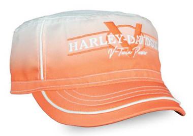 Harley-Davidson Women's V-Twin Power Gradient Painters Cap, Orange Wash PC132579 - Wisconsin Harley-Davidson