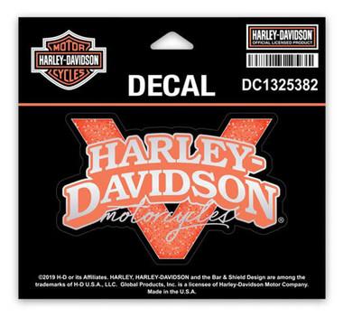 Harley-Davidson Glitter V-Twin Power Decals, SM Size 4 x 2.625 in. DC1325382 - Wisconsin Harley-Davidson