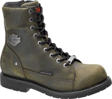Harley-Davidson Men's Grafton 7.25-In Black or Olive WP Motorcycle Boots D96192 - Wisconsin Harley-Davidson