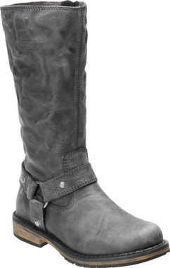 Harley-Davidson Women's Salley 11-In Grey or Bwn Leather Motorcycle Boots D84476 - Wisconsin Harley-Davidson