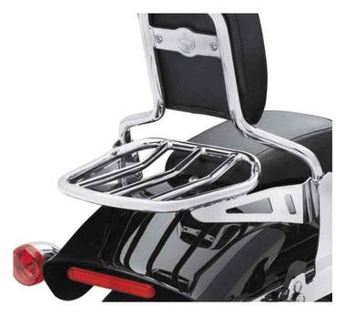 Harley-Davidson Custom Tapered Sport Steel Luggage Rack - Chrome 50300066A - Wisconsin Harley-Davidson