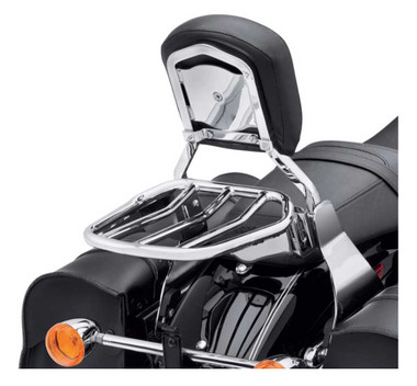 Harley-Davidson Custom Tapered Sport Luggage Rack - Chrome Finish 54055-10 - Wisconsin Harley-Davidson