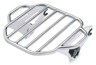 Harley-Davidson King Detachable Two-Up Luggage Rack - Chrome, Touring 50300054A - Wisconsin Harley-Davidson