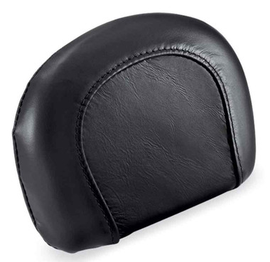 Harley-Davidson Compact Short Passenger Backrest Pad - Black Leather 52408-07A - Wisconsin Harley-Davidson