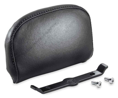 Harley-Davidson Passenger Backrest Pad - Compact - Smooth Black Vinyl 52300559A - Wisconsin Harley-Davidson