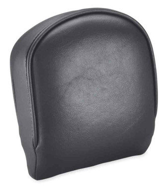 Harley-Davidson Smooth Medium Low Vinyl Backrest Pad - Solid Black 52652-04 - Wisconsin Harley-Davidson