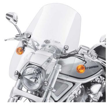 Harley-Davidson Compact Mid-Sport Windshield, VRSCDX Models - Clear 57400060 - Wisconsin Harley-Davidson