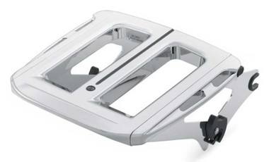 Harley-Davidson Adjustable Two-Up Luggage Rack -Chrome, Touring Models 50300044B - Wisconsin Harley-Davidson