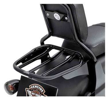 Harley-Davidson Custom Tapered Sport Luggage Rack - Gloss Black 54263-10 - Wisconsin Harley-Davidson