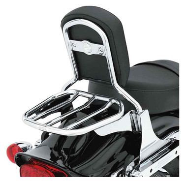 Harley-Davidson Custom Tapered Sport Steel Luggage Rack - Chrome 53953-06 - Wisconsin Harley-Davidson
