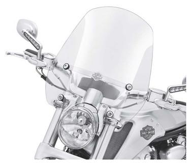 Harley-Davidson VRSCF Quick-Release Compact Mid-Sport Windshield, Smoke 57610-09 - Wisconsin Harley-Davidson
