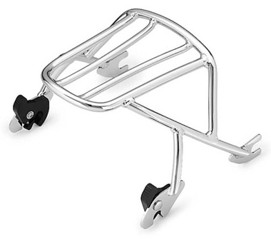 Harley-Davidson Detachables Solo Rack - Chrome, Fits XL Models 53494-04A - Wisconsin Harley-Davidson