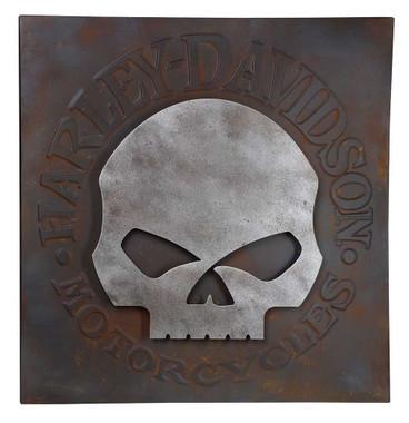 Harley-Davidson Distressed Willie G Skull Metal Wall Art, 28 inches HDL-15520 - Wisconsin Harley-Davidson