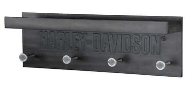 Harley-Davidson Engraved Wooden Pub Rack - 20 x 4.5 x 6.5 inches HDL-15321 - Wisconsin Harley-Davidson