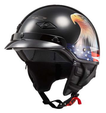 LS2 Helmets Bagger Fiberglass Motorcycle Half Helmet - Murica Eagle 568-310 - Wisconsin Harley-Davidson
